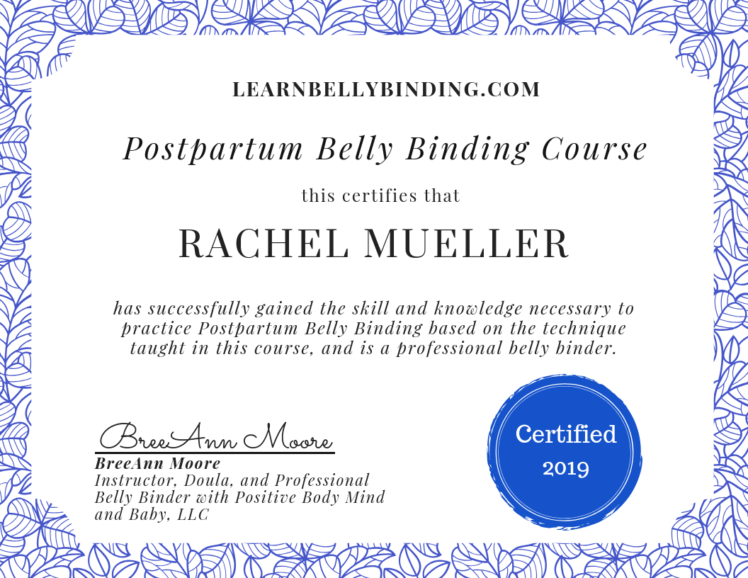 Belly-Binding-Certification