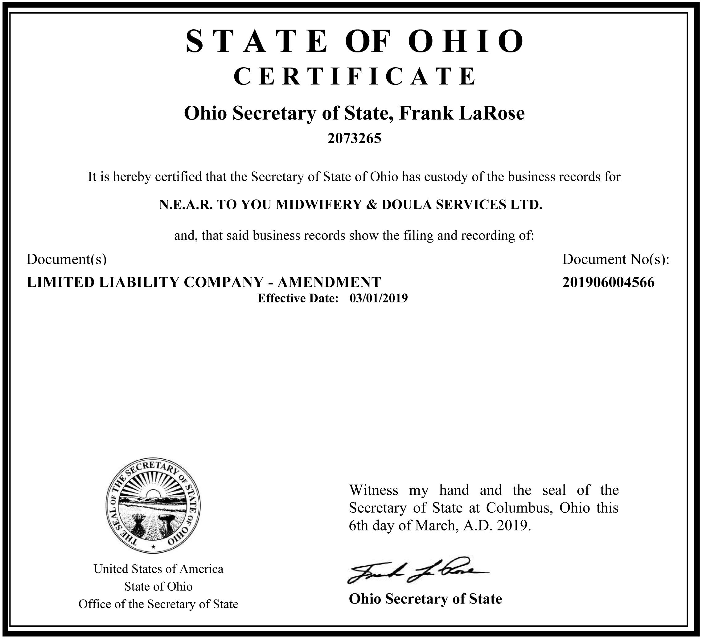 Ohiocertificate