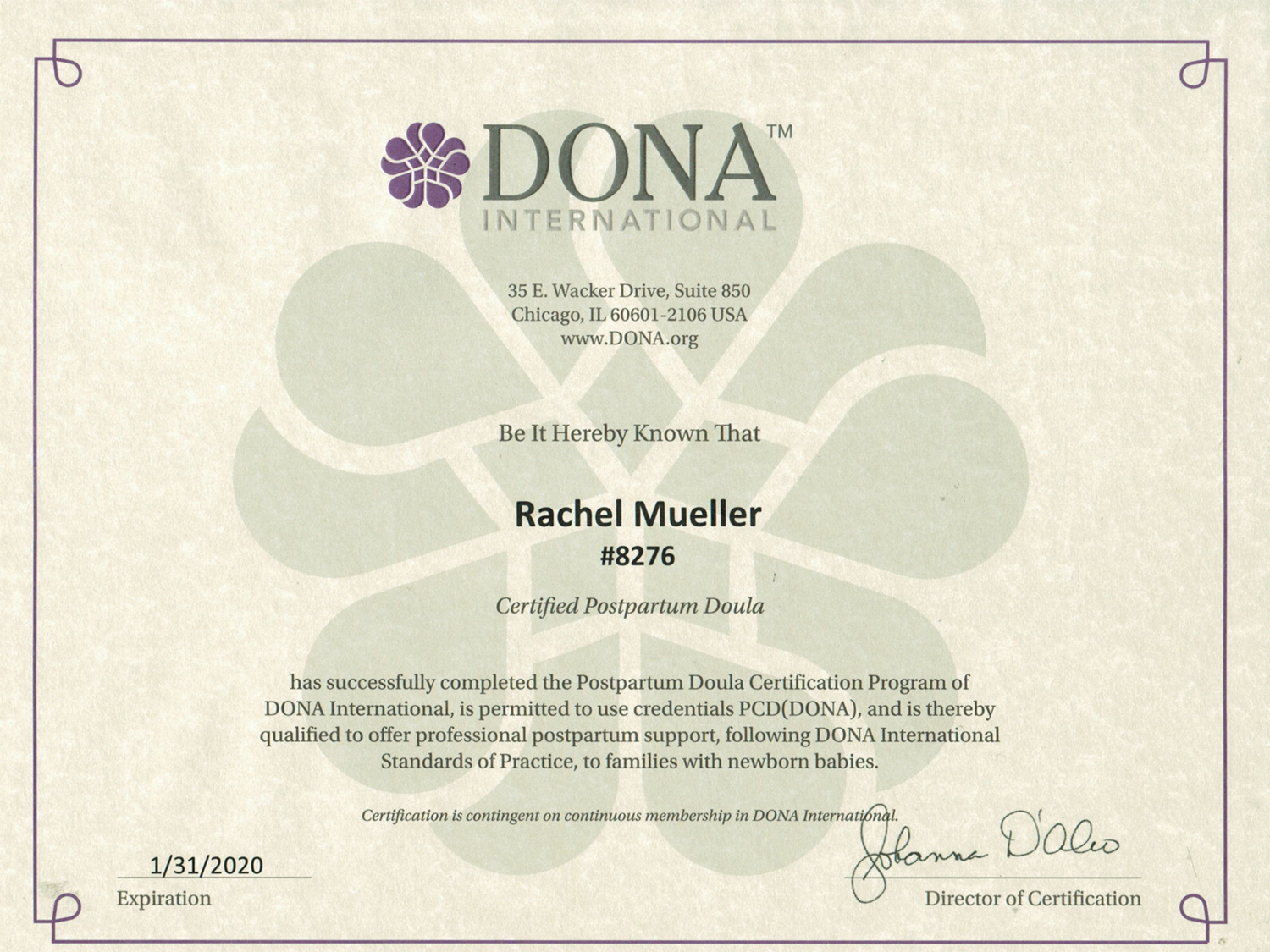 Certification documents near to you midwifery doula certification documents aiddatafo Image collections
